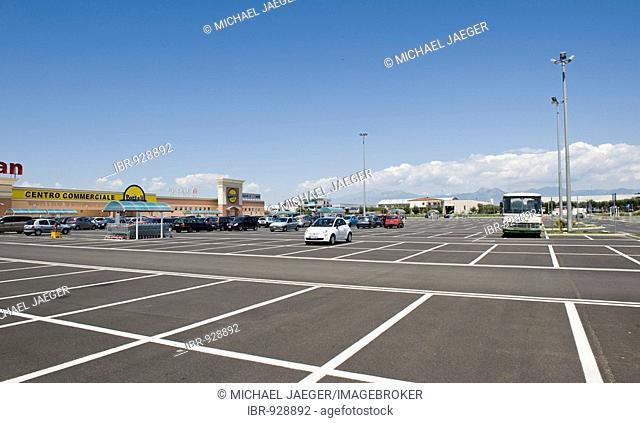 Shopping centre car park