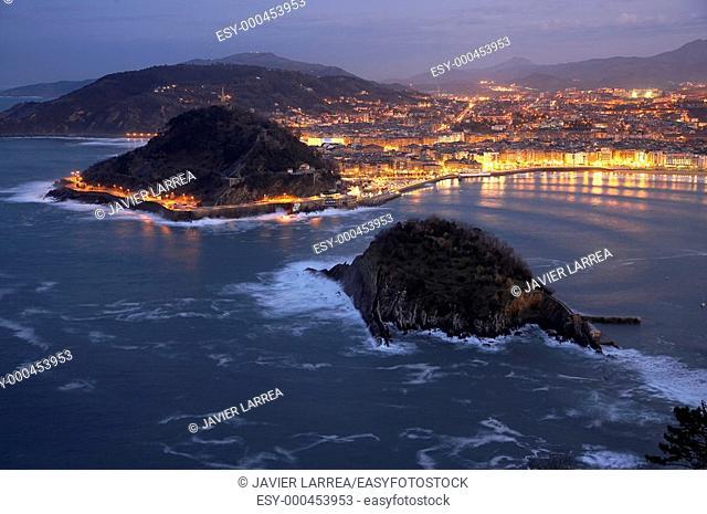 Bahia de La Concha, Donostia, San Sebastian, Gipuzkoa, Euskadi