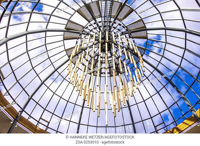 Glass ceiling with monumental lighting in Eindhoven, The Netherlands, Europe