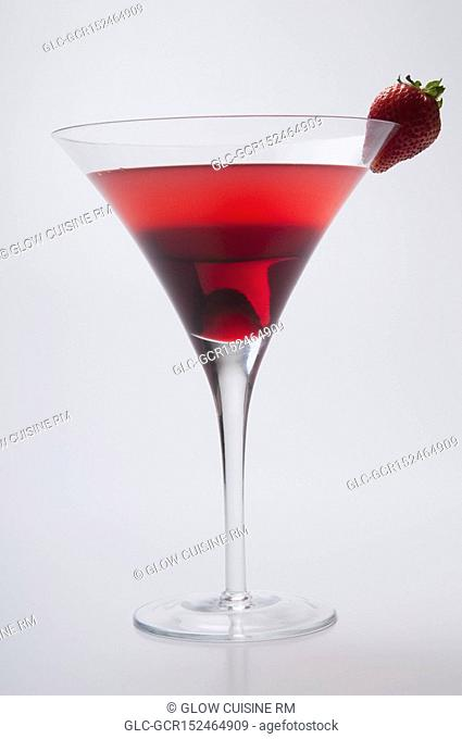 Close-up of a strawberry cocktail
