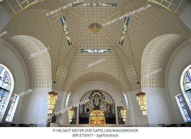 Chancel with dome of the Church of St. Leopold at Steinhof, built 1904-1907, designed by Otto Wagner, most important building of the Viennese Art Nouveau