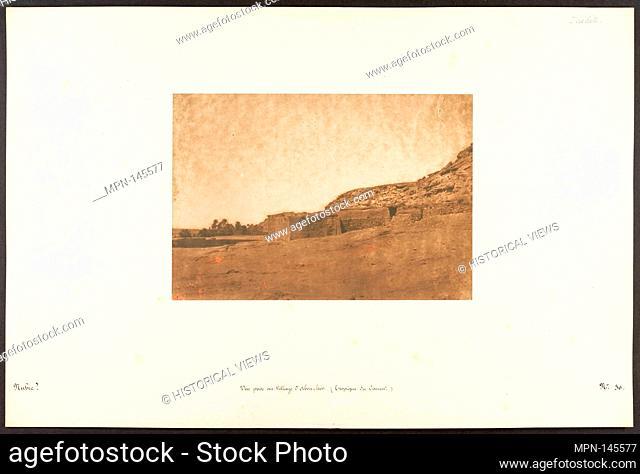 Vue prise au Village d'Abou-hor (Tropique du Cancer). Artist: Maxime Du Camp (French, 1822-1894); Date: April 1850; Medium: Salted paper print from paper...