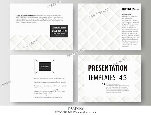 Set of business templates for presentation slides. Easy editable abstract vector layouts in flat design. Shiny fabric, rippled texture, white color silk