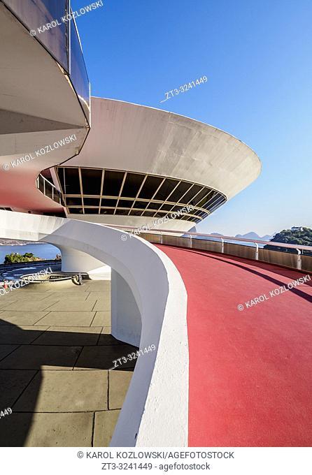 Niteroi Contemporary Art Museum MAC, Niteroi, State of Rio de Janeiro, Brazil