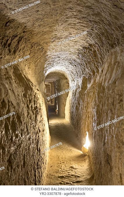 Corridor inside Noosh Abad, Aran va Bidgol, Isfahan province, Iran