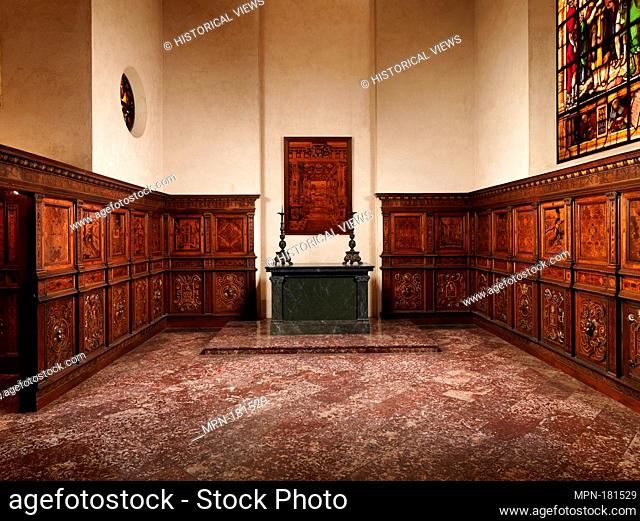 Chapel from Le Château de la Bastie d'Urfé. Maker: Fra Damiano da Bergamo (Damiano di Antoniolo de Zambelli) (ca. 1480-1549) and his workshop; Maker: Francesco...