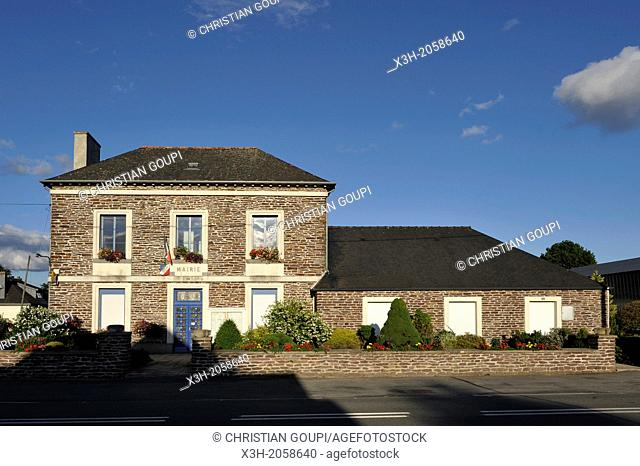 town hall of Treffendel, Ille-et-Villaine department, Brittany, west of France, western Europe