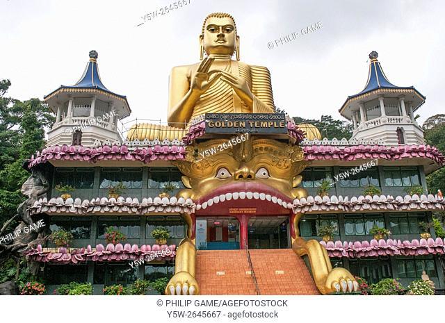 Golden Buddha Temple at Dambulla, Sri Lanka