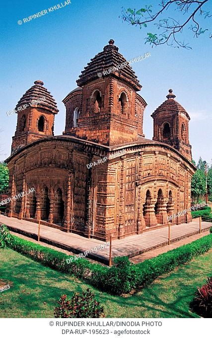 Pancharatna terracotta temple, bishnupur, west bengal, india, asia
