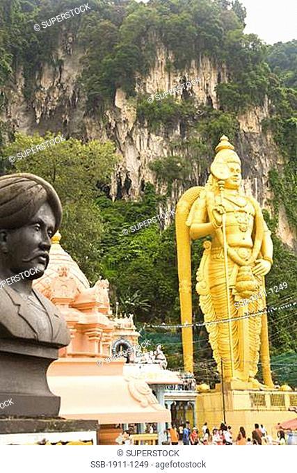 Batu Caves Sri Subramaniaswamy Hindu Temple ourskirts of capital city of Kuala Lumpur Malaysia Peninsula Malaysia SE Asia