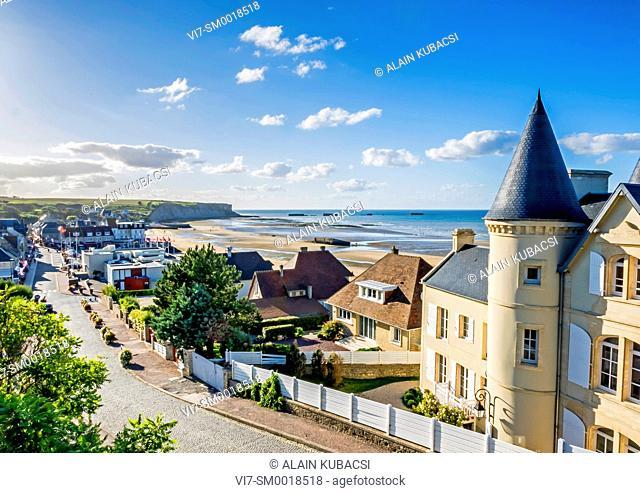 Mulberry artificial harbour's remains, Arromanches, Normandy landing, World War II, Calvados, France