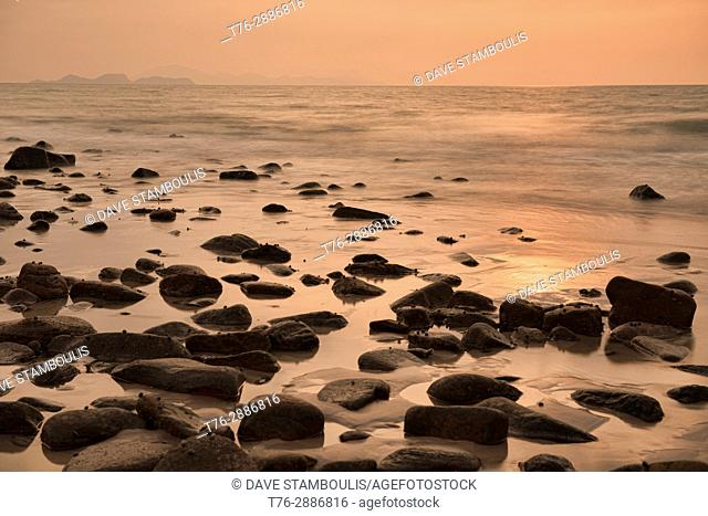 Sunset on Ao Son beach, Ko Tarutao Island, Thailand