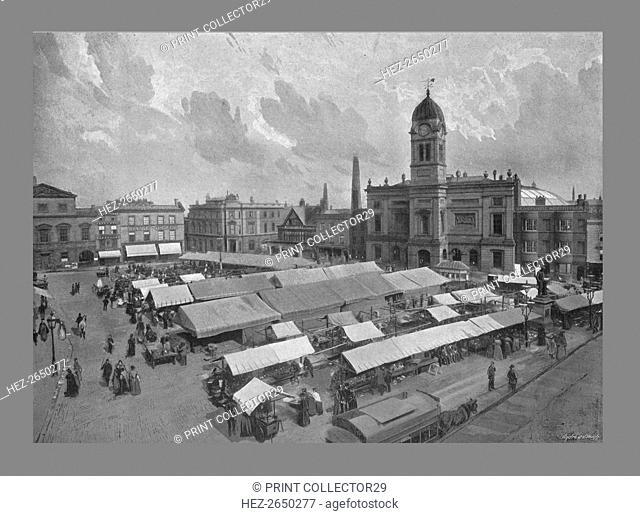 Market Place, Derby, c1900 . Artist: WW Winter