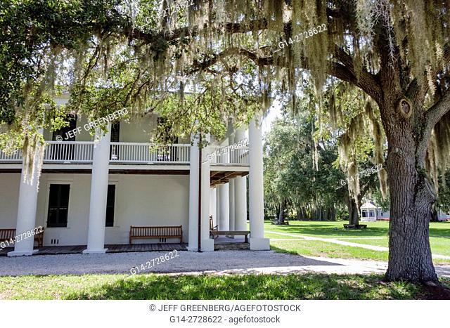 Florida, Ellenton, Gamble Plantation Historic State Park, antebellum mansion, National Register of Historic Places, Doric Revivalist architecture, porch, column