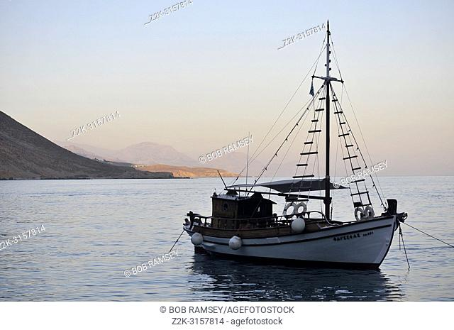 Boat, Loutro, Crete, Greece