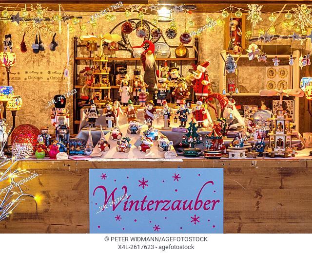 Christmas Market in Garmisch-Partenkirchen, Bavaria, Germany