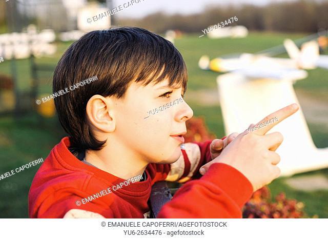 Portrait of 11 year old boy