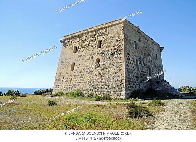 Torre de San Jose tower, former prison, Tabarca, Isla de Tabarca, Alicante, Costa Blanca, Spain, Europe