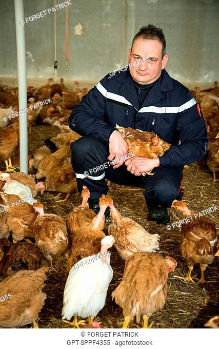 ADJUNCT/CHIEF DIDIER CHIRON, FARMER, MILK PRODUCER AND CHICKEN FARMER, CHIEF OF THE EMERGENCY SERVICES CENTER OF LES LANDES-GENUSSON, VENDEE (85), FRANCE