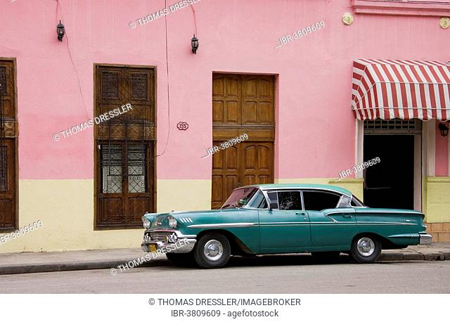 Classic car parked in the streets of Havana, Havana, Cuba