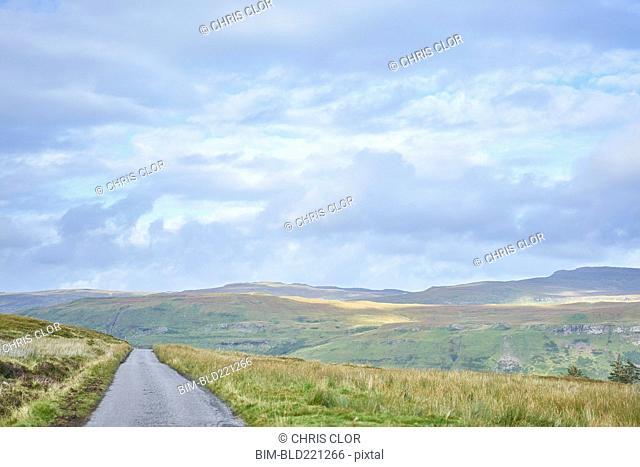 Road in rural landscape