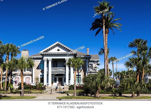 The historic Isaac H, & Henrietta Kempner House in Galveston, Texas, USA