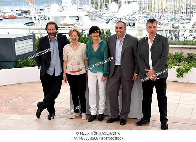 (L-R) Jury members, French actor Jean-Christophe Berjon, Isabelle Frilley of the Federation des Industries du Cinema, de l'Audiovisuel et du Multimedia (FICAM)