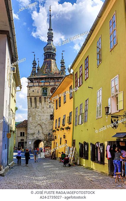 "Romania, Mures County, Sighisoara City, The Citadel, Clock Tower """""