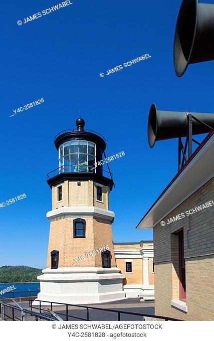 Spilt Rock Lighthouse built 1909-10 on the north shore of Lake Superior in Minnesota a National Historic Landmark