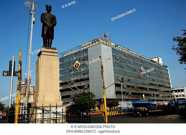 railway station building churchgate, mumbai, maharashtra, India, Asia