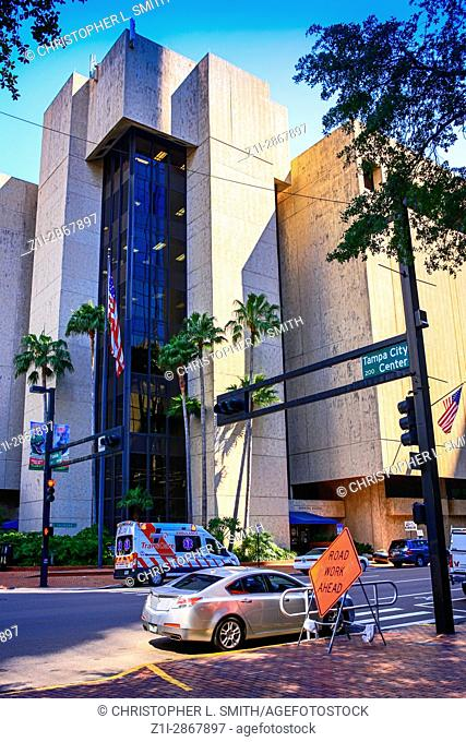 The Municipal Office building of Tampa FL on the corner of Jackson and Franklin