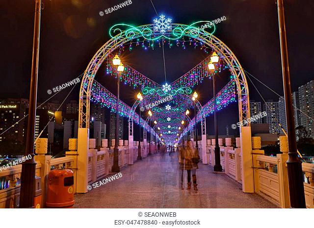 the Sha Tin Festive Lighting at hk 2016