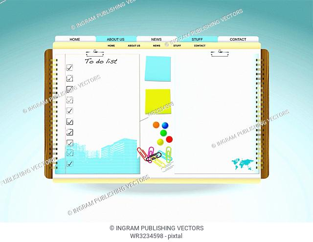 Web site template paper cocnept with room for your text
