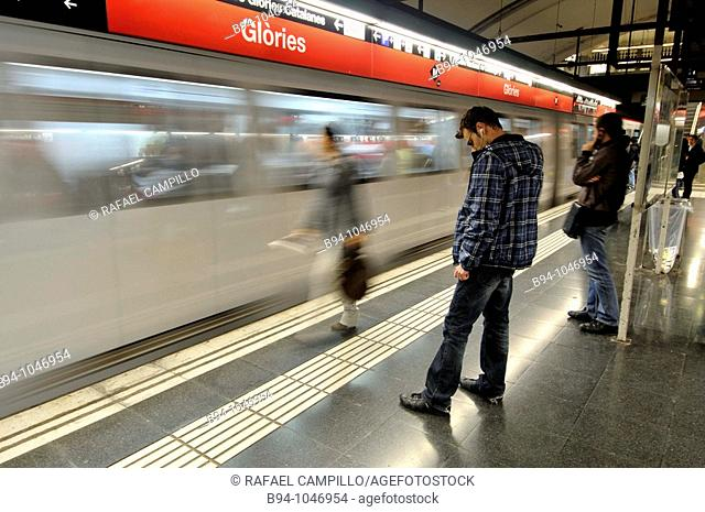 Subway station, Barcelona. Catalonia, Spain