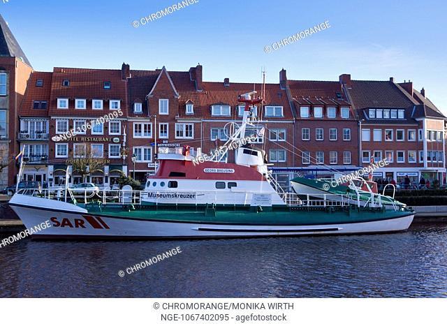Museum Ship quot Georg Breusing quot , lifeboat, Ratsdelft, Emden, East Frisia, Lower Saxony, Germany, Europe