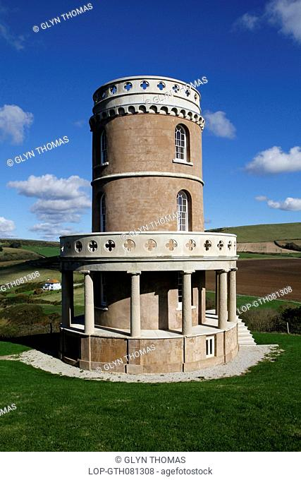 England, Dorset, Kimmeridge. Clavell Tower which is a folly above Hen Cliff at Kimmeridge Bay