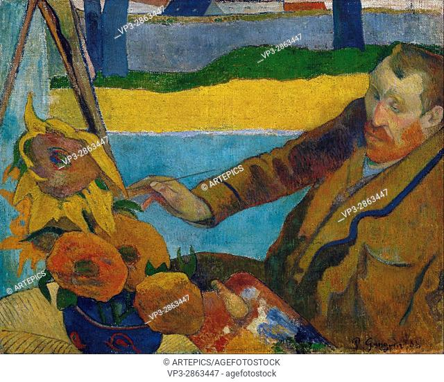 Paul Gauguin - Vincent van Gogh painting sunflowers - Van Gogh Museum, Amsterdam