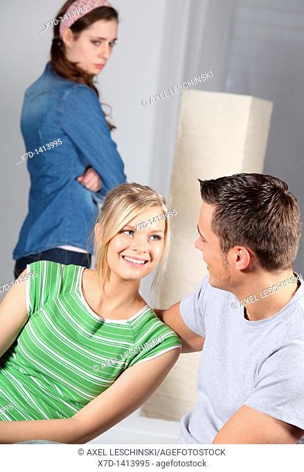 man women conversation