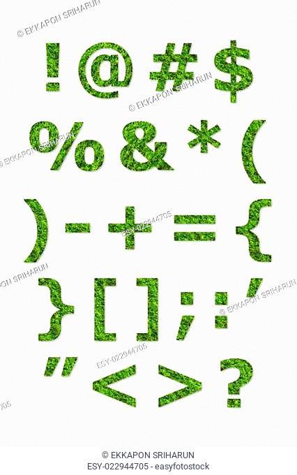alphabet letter of green lichen