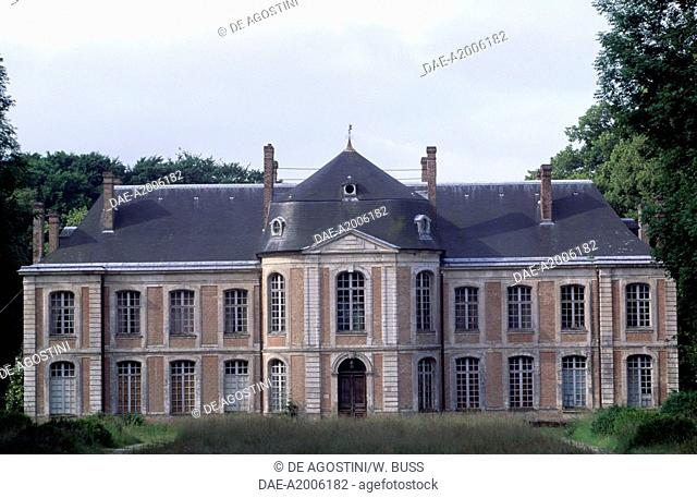 Facade of Chateau de Arry, Picardy. France, 18th century