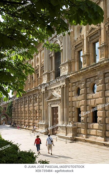Palace of Charles V, Alhambra, Granada. Andalucia, Spain