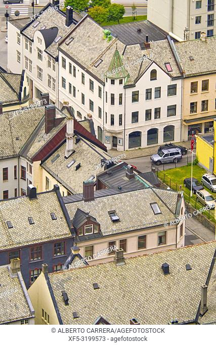 Cityscape, Alesund, Norway, Scandinavia, Europe