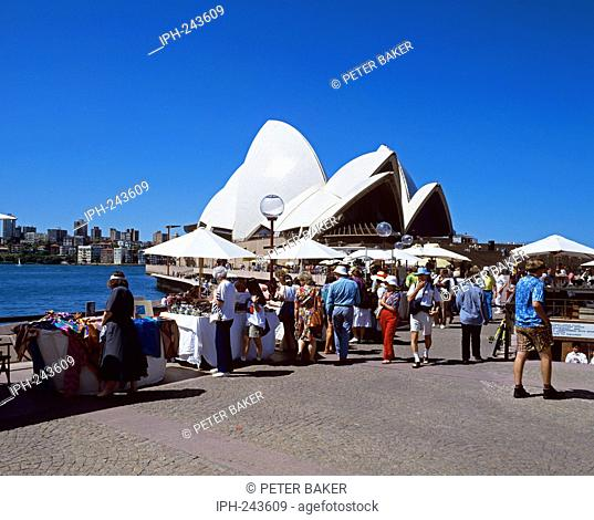 The Opera House on Bennelong Point in Sydney Harbour