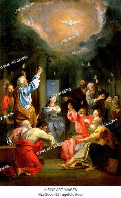 The descent of the Holy Spirit (Pentecost)