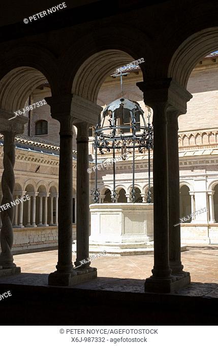 The Abbazia di Santa Croce in Sassovivo near Foligno in Umbria Italy  Benedictine Abbey on the slopes of Mount Serrone It was founded by the Benedictine...