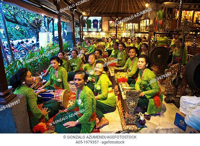 Gamelan. Typical orchestra in Bali, Ubud, Bali, Indonesia