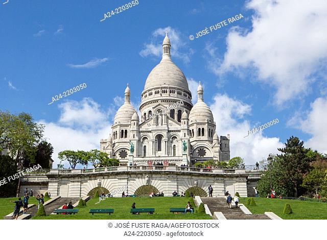 France , Paris City, Monmarte District, Sacre Coeur Basilica