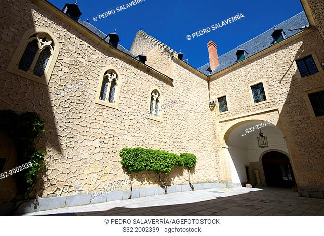 Watch courtyard in the Alcazar of Segovia, Castilla Leon, Spain