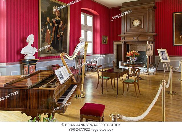 The Music Room at Chateau d'Amboise, Amboise Indre-et-Loire, Centre, France