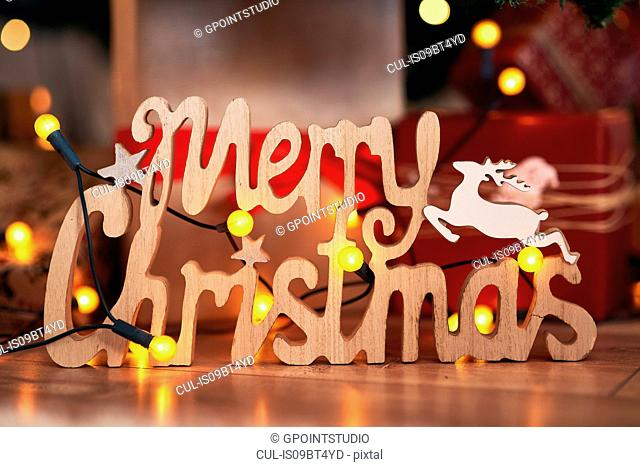 Festive Merry Christmas sign